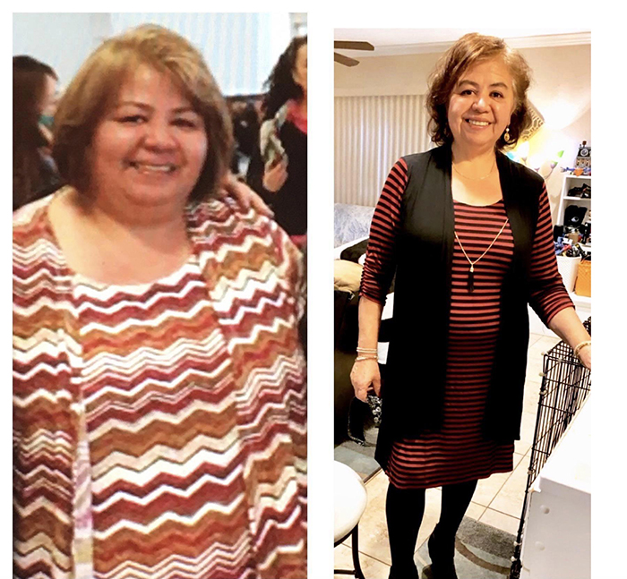 woman in 60s weigh loss journey