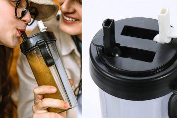 Dual-Chamber Water Bottle