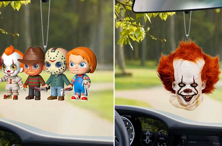 Hanging Rear-View Mirror Horror Ornaments