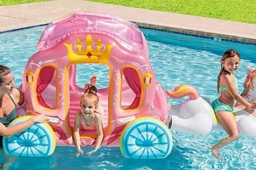 Inflatable Pink Princess Carriage