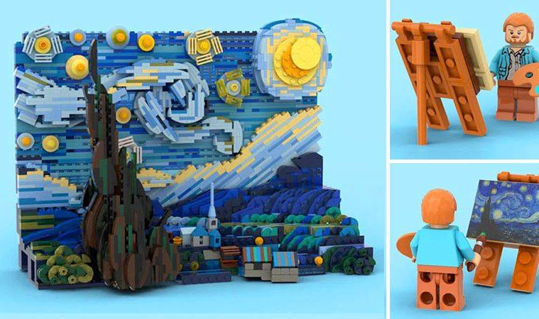 Starry Night 3D LEGO Set