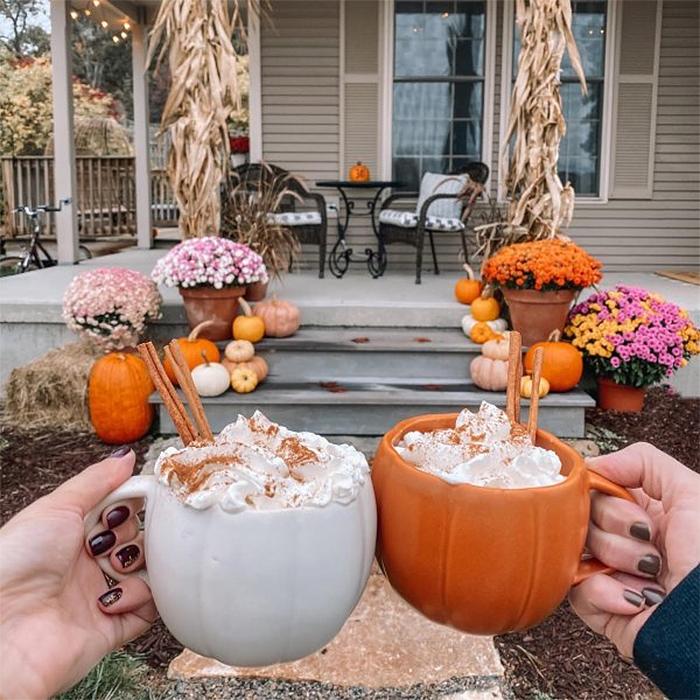 autumn-themed mugs