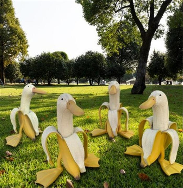 banana duck statues garden decorations