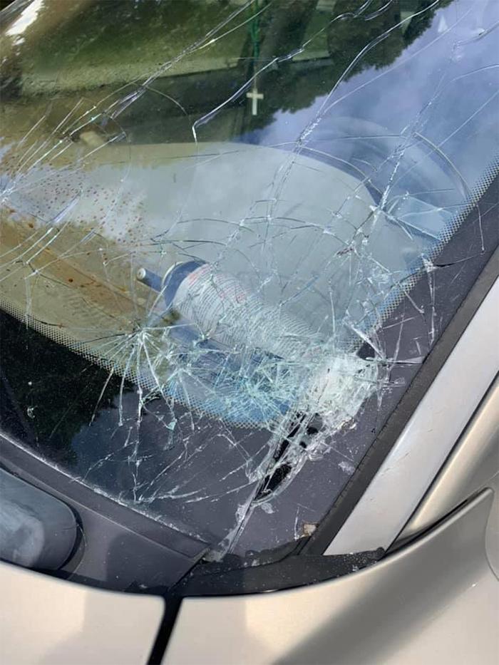 bear mace exploding inside car hot day