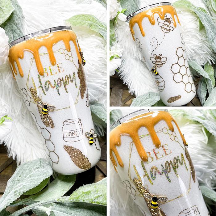 bee happy tumbler