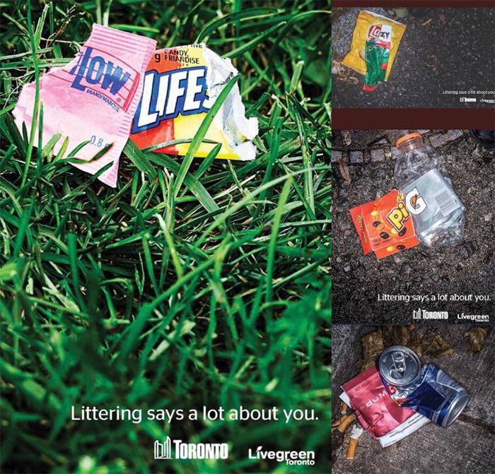 brilliant design ideas ad against littering