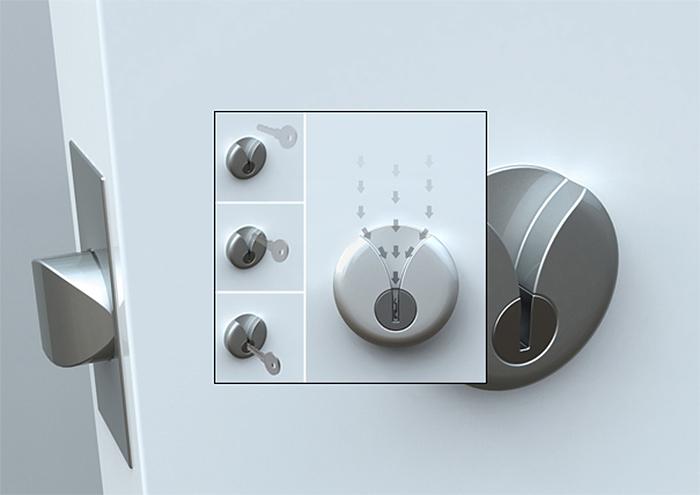 brilliant design ideas door lock easy key slide