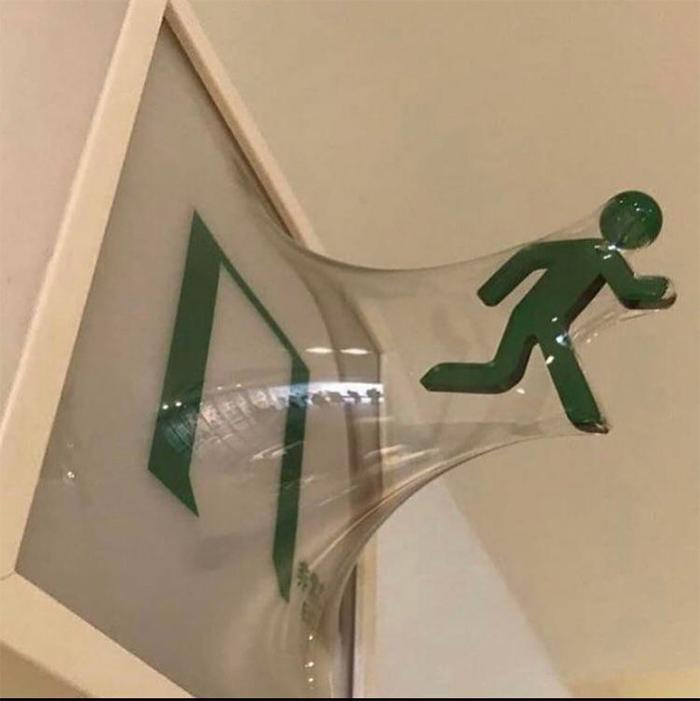 brilliant design ideas exit sign