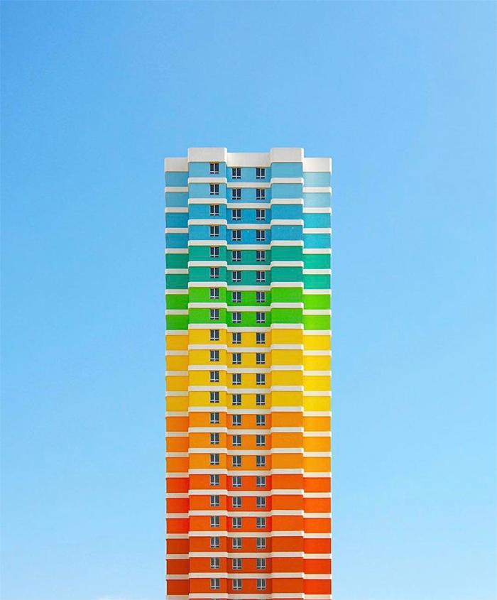 brilliant design ideas rainbow colored apartment building turkey