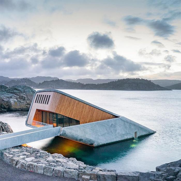 brilliant design ideas underwater restaurant norway