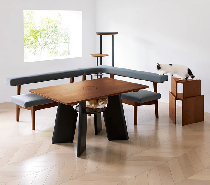 cat table furniture lower perch
