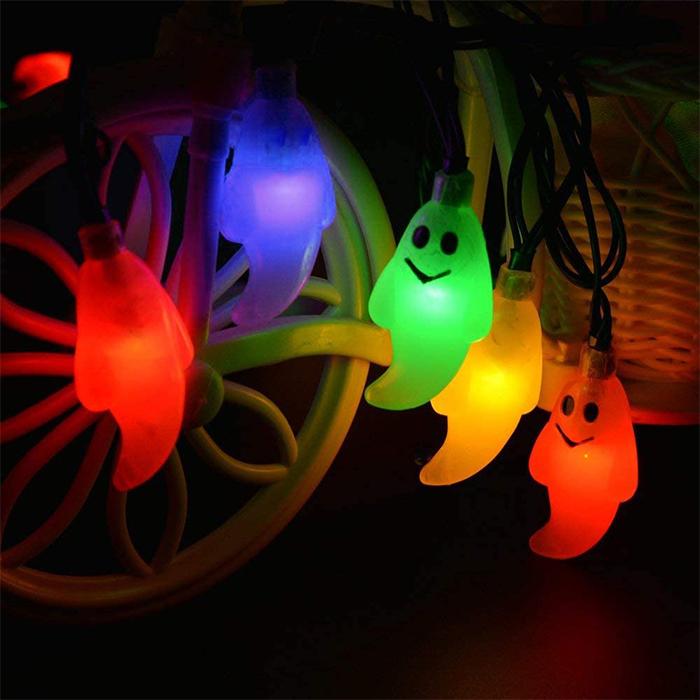 colorful ghost led bulb string solar lights