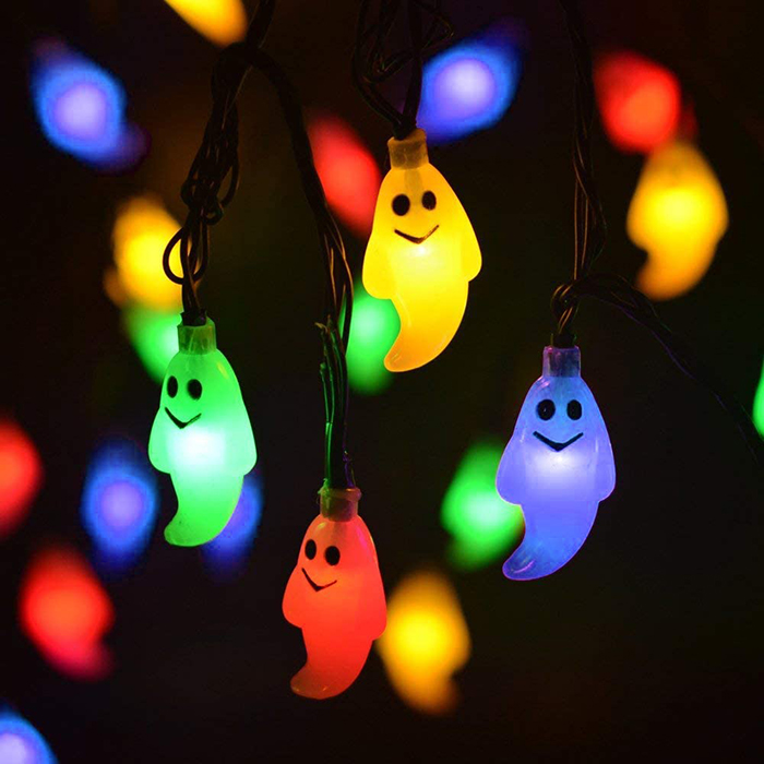 colorful ghost led string solar lights
