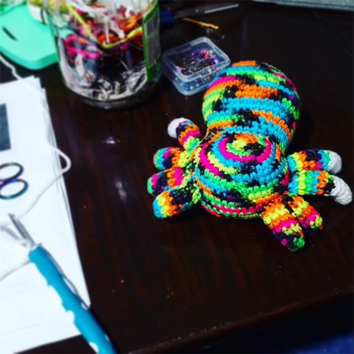 colorful yarn huggable animal