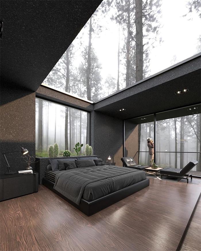 contemporary house glass ceiling
