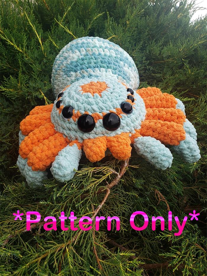 crochet spider pattern only