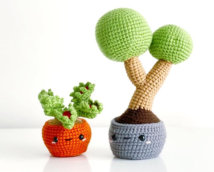 crochet succulents amigurumi style