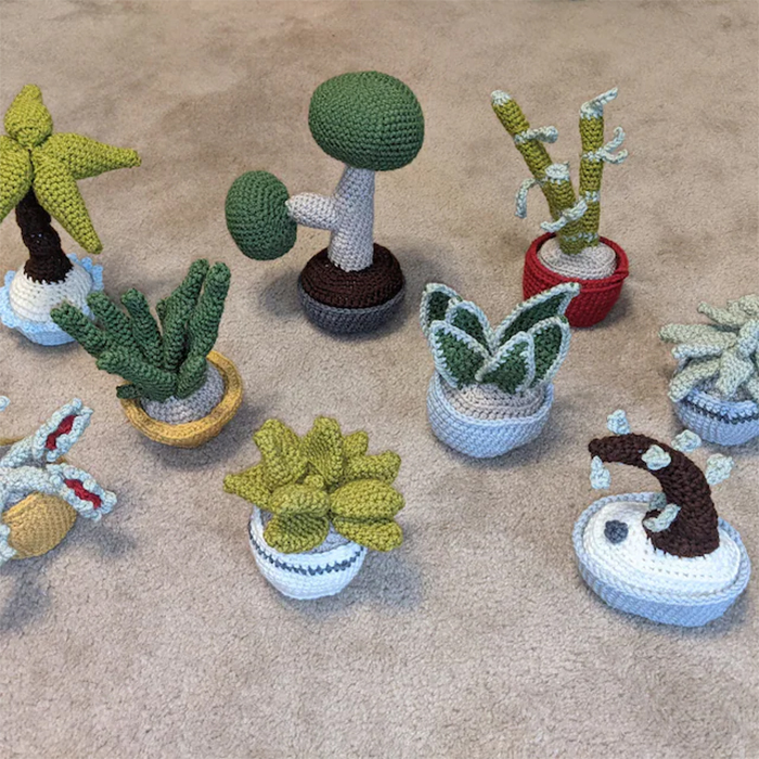 crochet succulents digital patterns