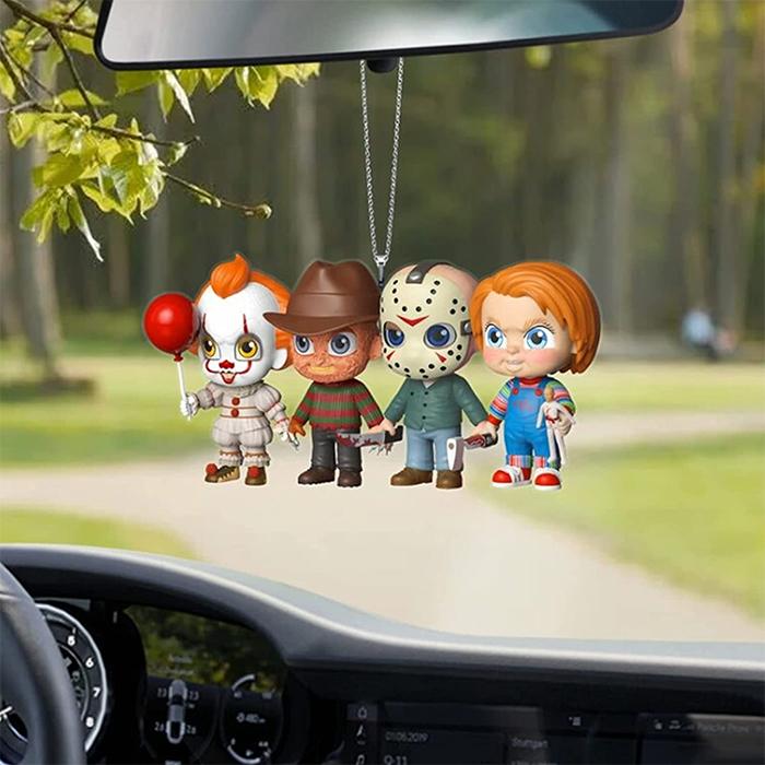 cute horror characters rear-view mirror ornament