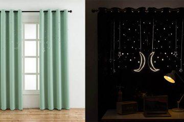 cutout stars and moon curtains