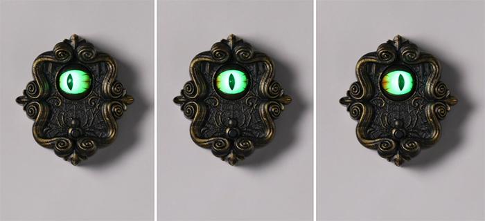 doorbell with animated eyeball loud sound