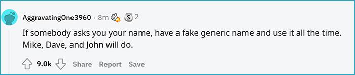 fake generic name tip