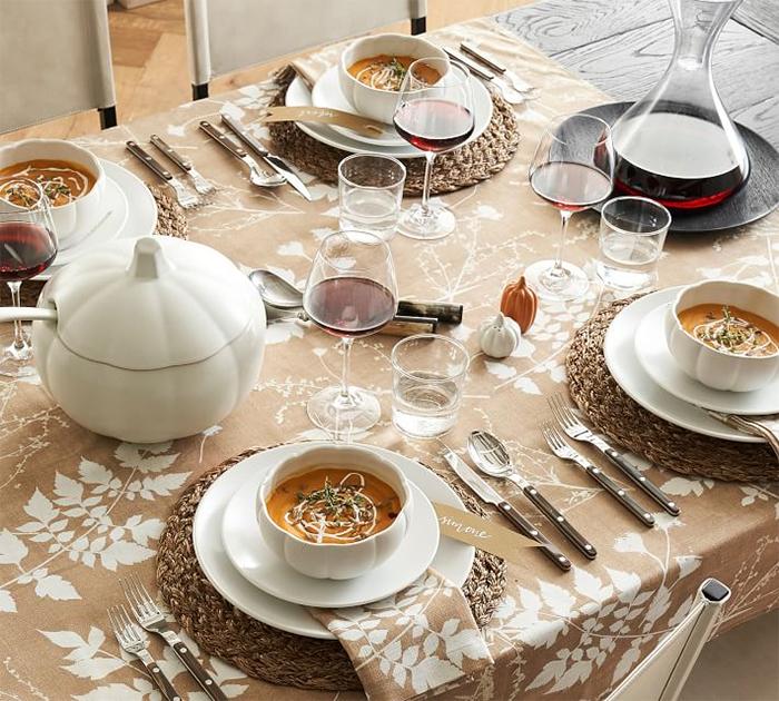 fall-inspired tableware