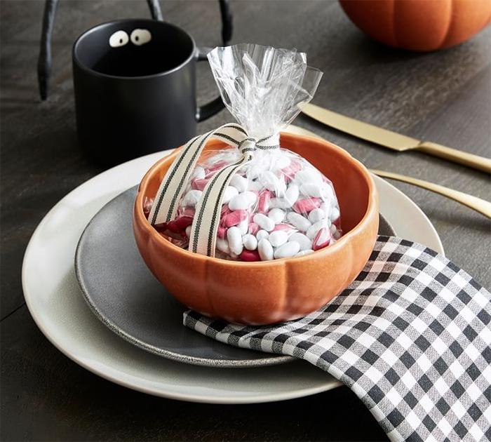 fall-themed bowl orange