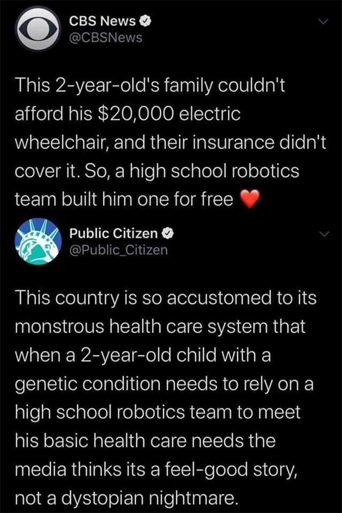 feel good story dystopian nightmare
