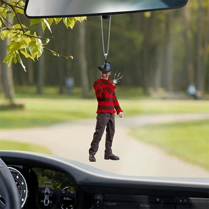 freddy krueger rear-view mirror ornament