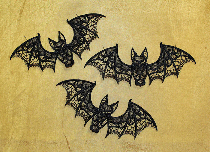 freestanding lace embroidery halloween decors