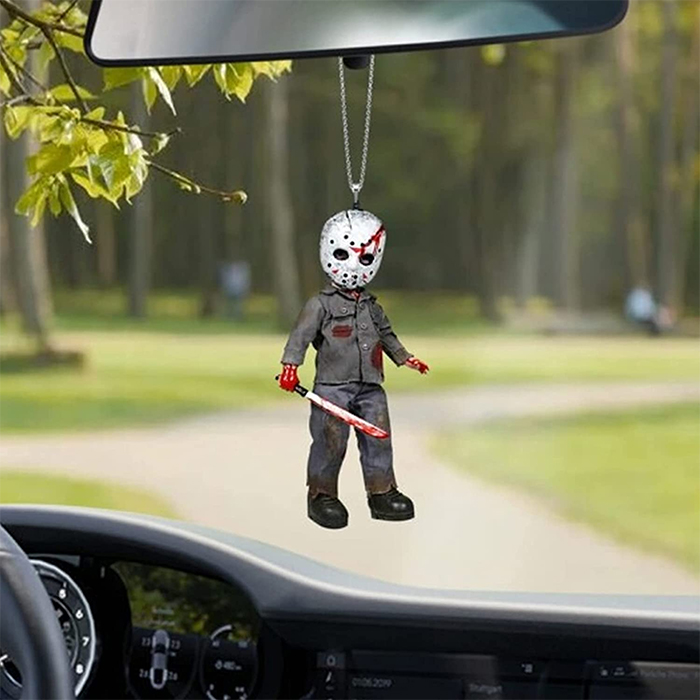 friday the 13th hanging ornament