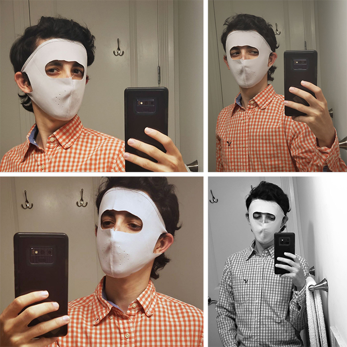 funny grandparents hannibal lecter face mask