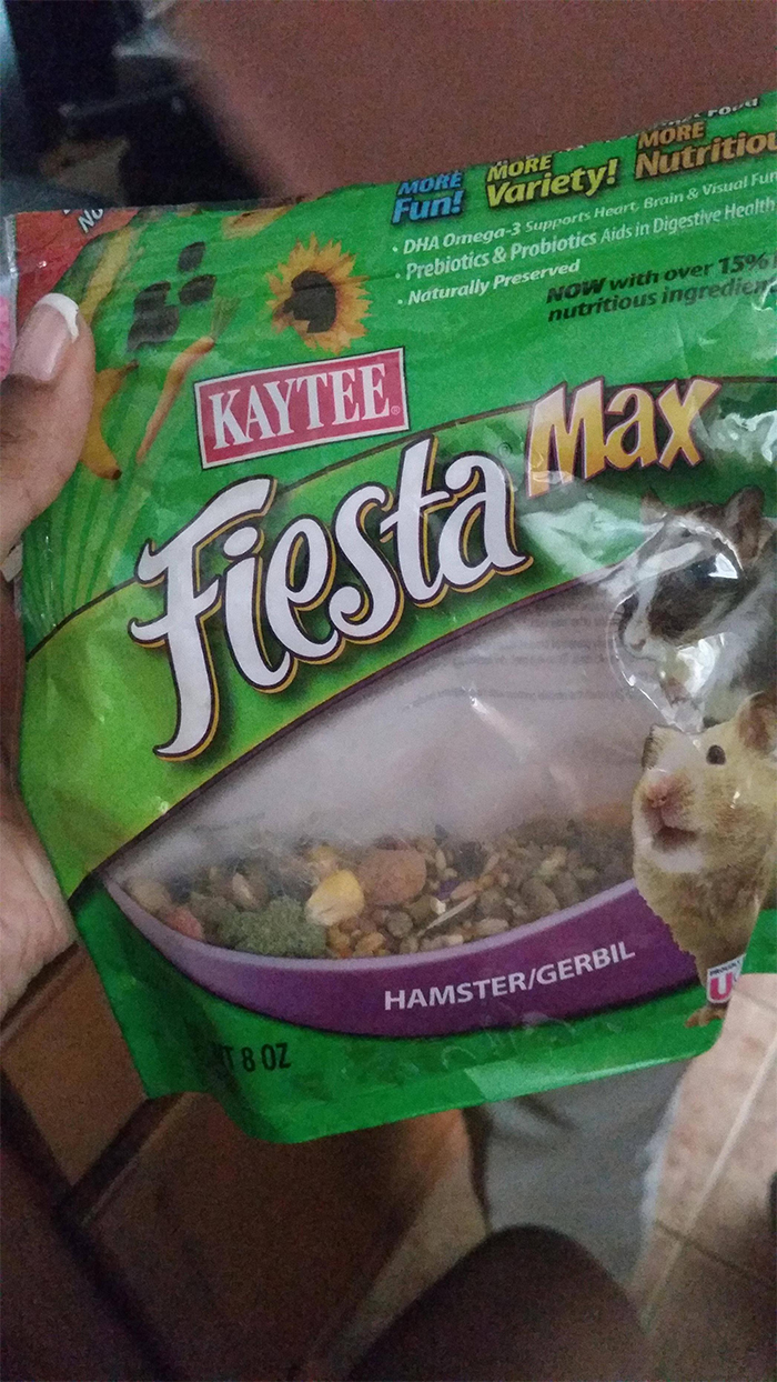 funny grandparents trail mix for hamsters
