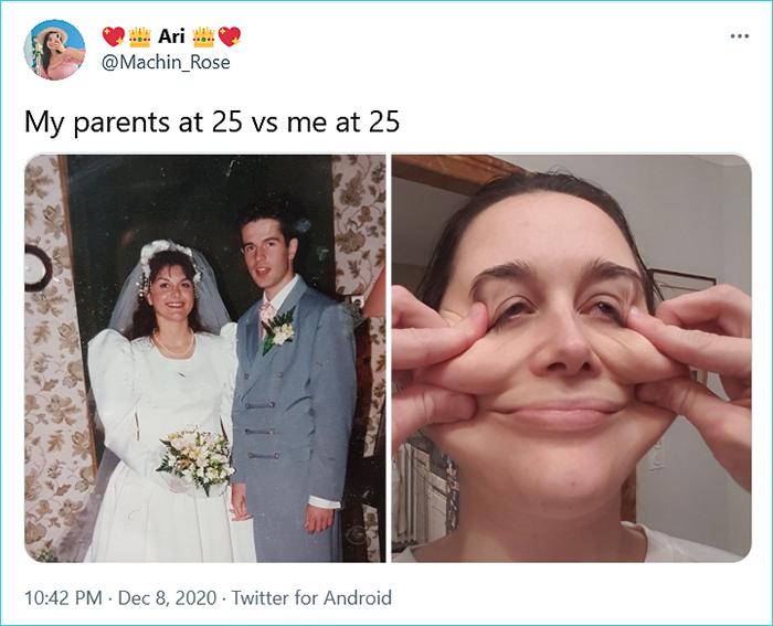 generational comparison twitter challenge ari
