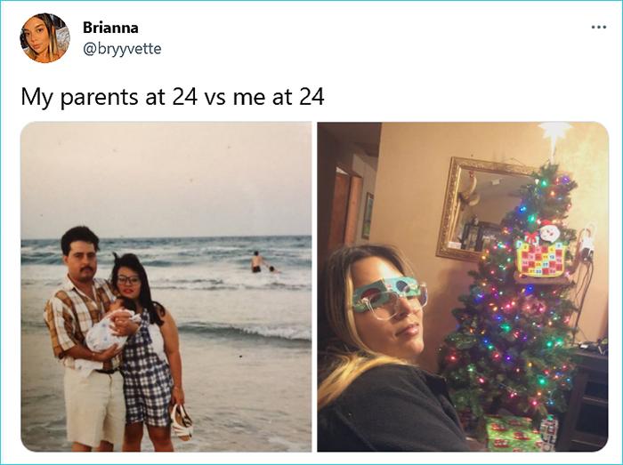 generational comparison twitter challenge brianna