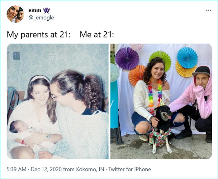 generational comparison twitter challenge emm
