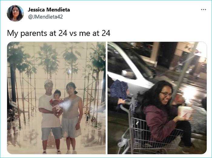 generational comparison twitter challenge jessica mendieta
