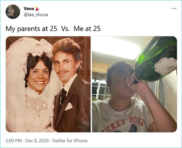 generational comparison twitter challenge vane