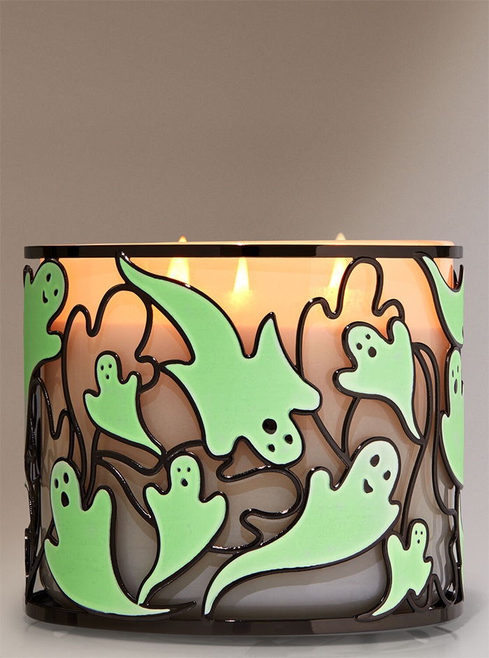 glow in the dark ghosts candle holder