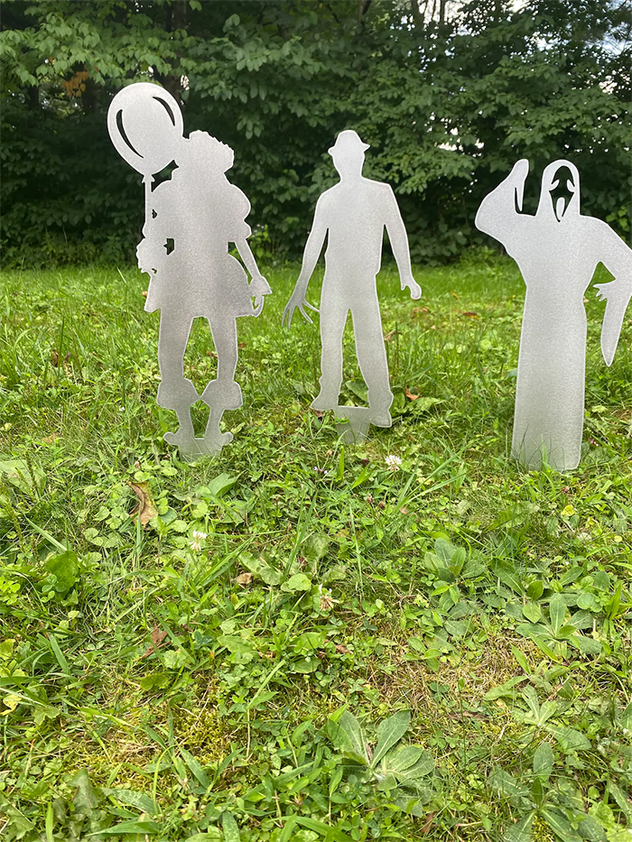 halloween metal yard stakes horror characters