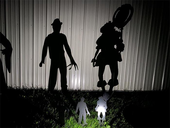 halloween metal yard stakes life-size shadows