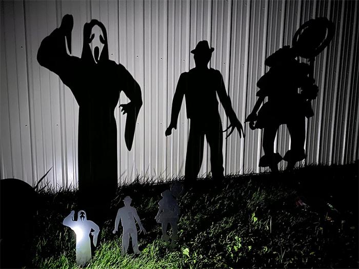 halloween metal yard stakes
