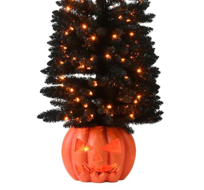 halloween tree jack-o-lantern base