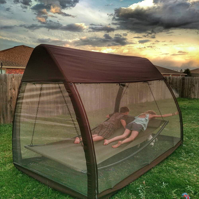 hanging canopy bed with mosquito net