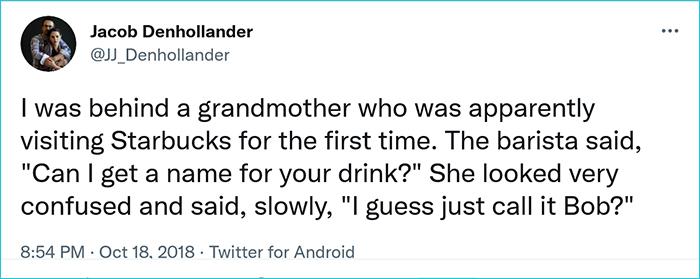 hilarious seniors name for drink