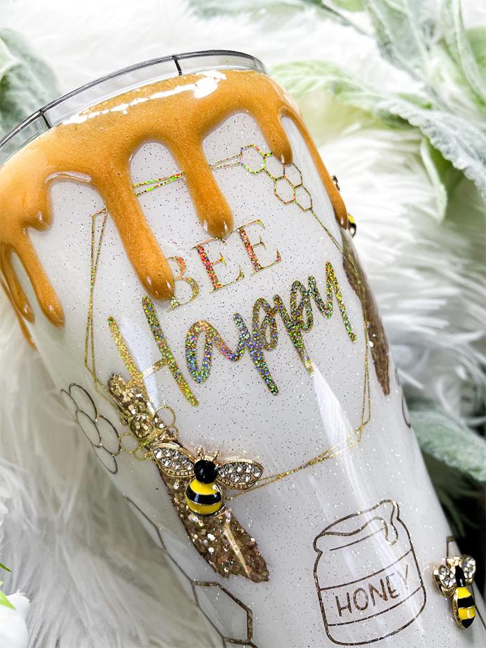 honeybee inspired drinking cup
