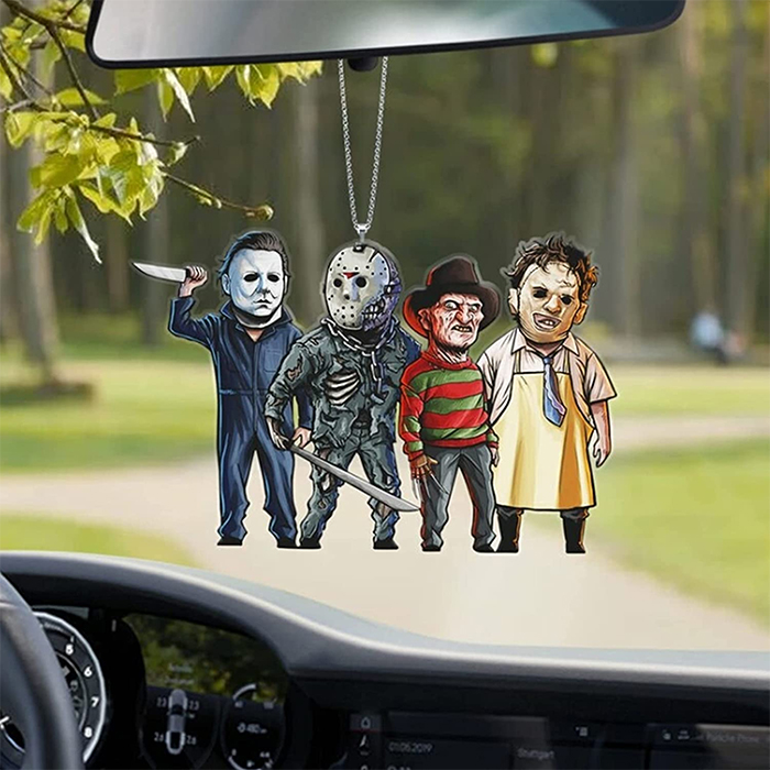 horror characters rear-view mirror ornament