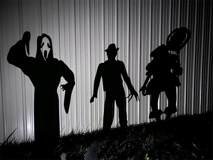 horror characters shadows