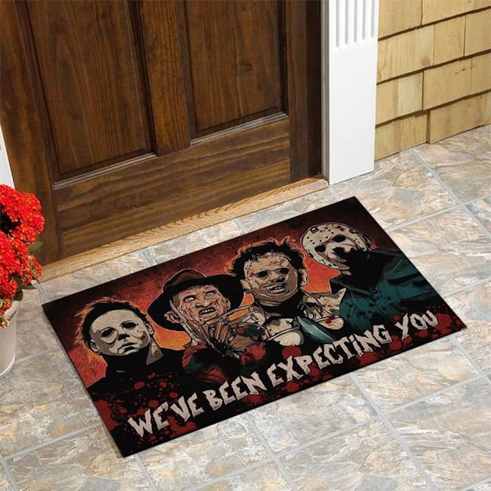 horror movie characters doormat halloween